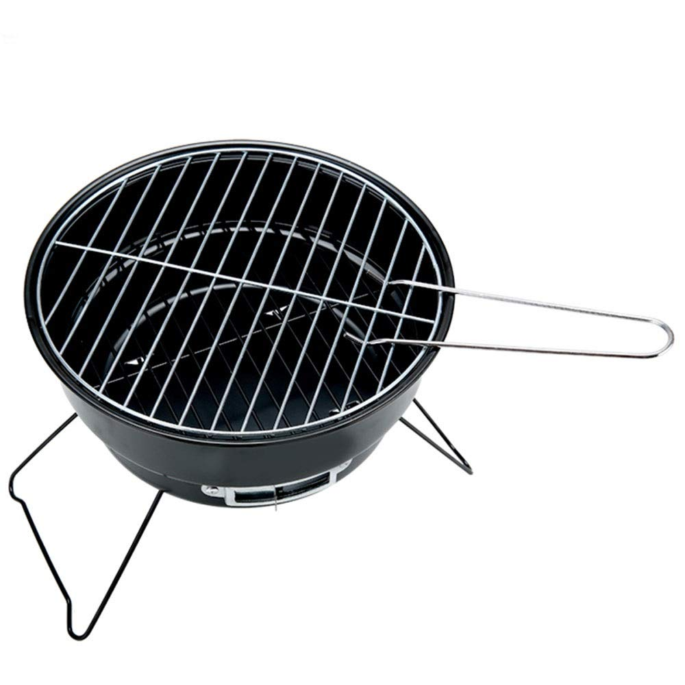 SX1560 Portable Charcoal Folding BBQ Grill/Outdoor Family Camping Cooking BBQ Round Type Small Roast Stove Brazier