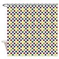 CafePress Rainbow Polka Dots Shower Curtain