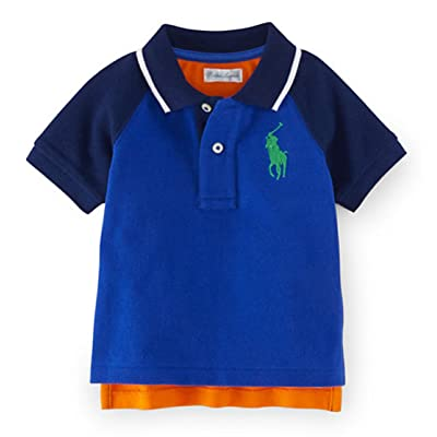 Ralph Lauren Baby Boys' Big Pony Cotton Short Sleeve Baseball Polo Shirt