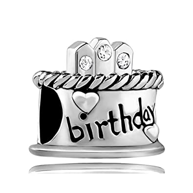 Third Time Charm April Birthday Cake Happy Candle Beads For Bracelets