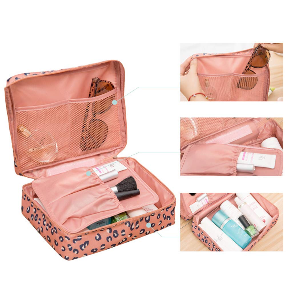 Travel Cosmetic Bag, Printed Multifunction Portable Toiletry Bag for Women