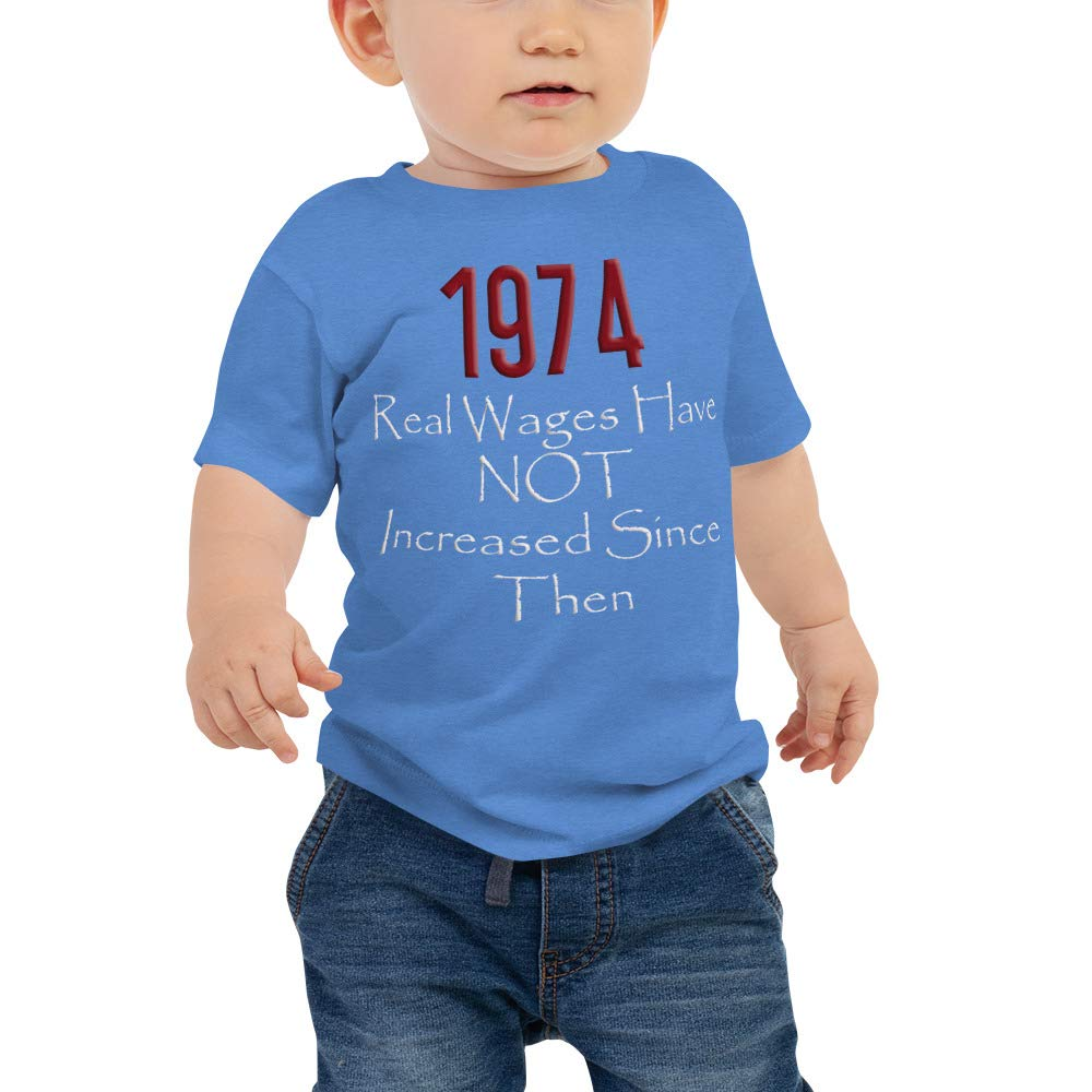 Baby Jersey Short Sleeve Tee Heather Columbia Blue Real Wages