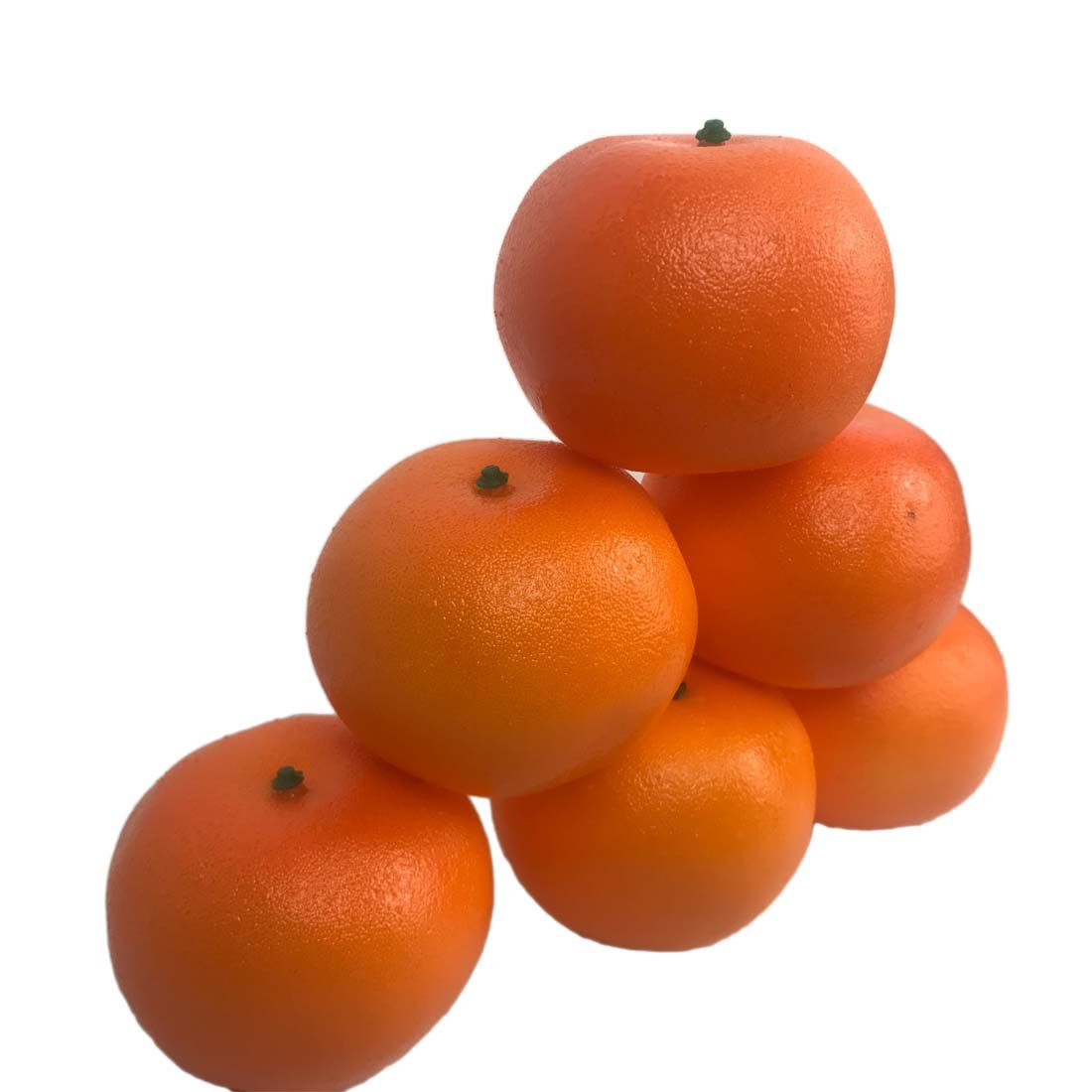 6 Pcs Arificial Oranges R/éalistes Mandarines Faux Fruits D/écorations pour La Maison Table De Cuisine Affichage