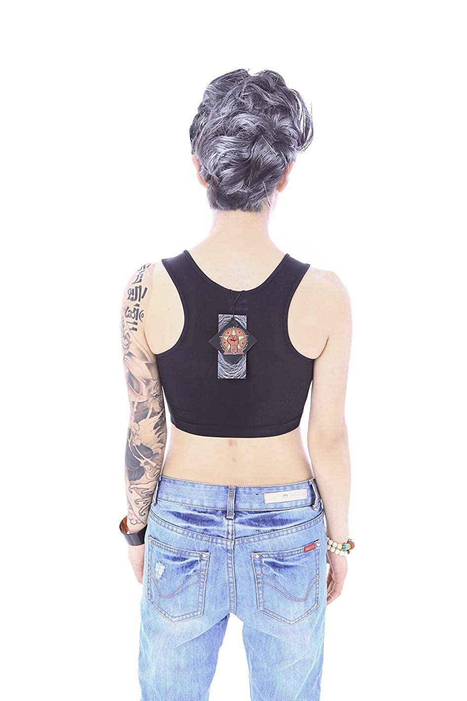 BaronHong Pullover Half Length Chest Binder Without Clips for Tomboy Trans Lesbian