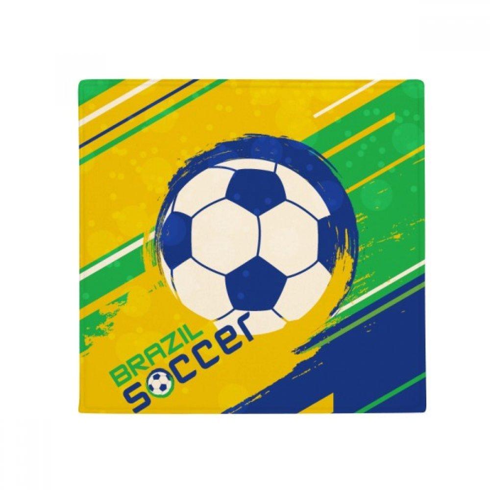 DIYthinker Brazil Soccer Football Sports Anti-Slip Floor Pet Mat Square Home Kitchen Door 80Cm Gift