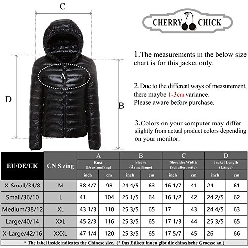 Jacket Hooded 2016 Women's Down Off New ab CHICK White CHERRY Nylon 4wx10Iapan