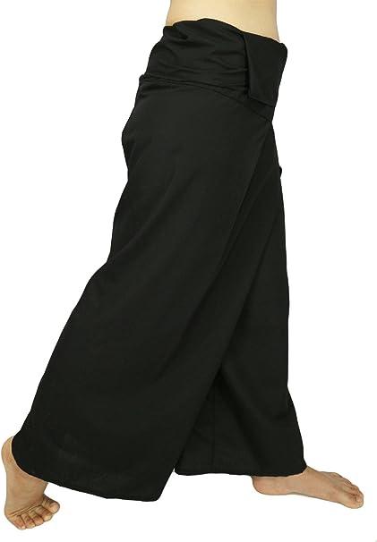 Lovely Creations Jumbo Size Man Women Thai Fisherman Wrap Pants Toray Wild Leg Baggy Yoga Casual Trousers Waist 60