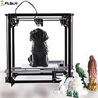 flsun 3d printer Square DIY Kit Touch Screen Auto Nivelación Impresión Tamaño 260x 260x 350con Auto niveles calefactables cama Precisión, Großer Platz, negro, 1
