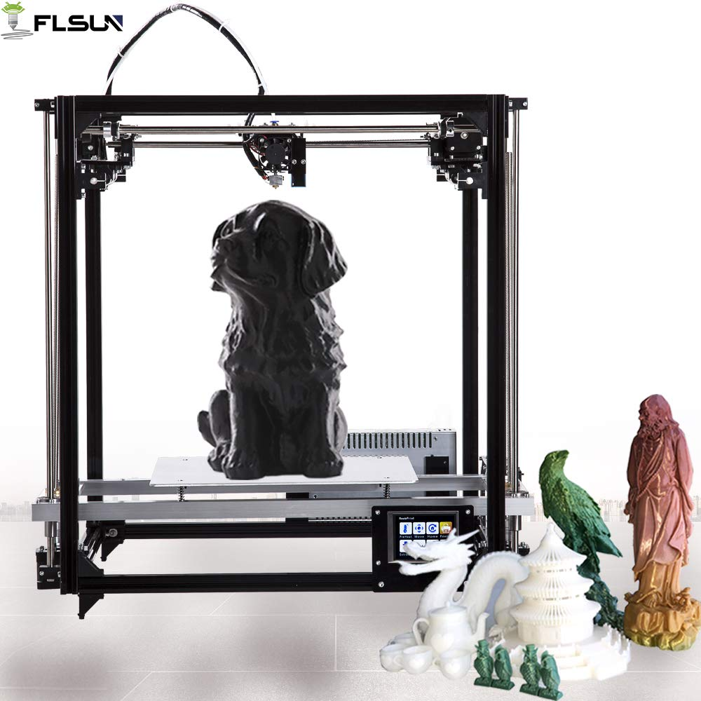 FLSUN 3d Drucker Cube DIY Kit Touch Screen Auto Nivellierung 3d Printer Grö ß e 260X260X350 mit Auto Level beheizte Bett Prä zision (Touchscreen)