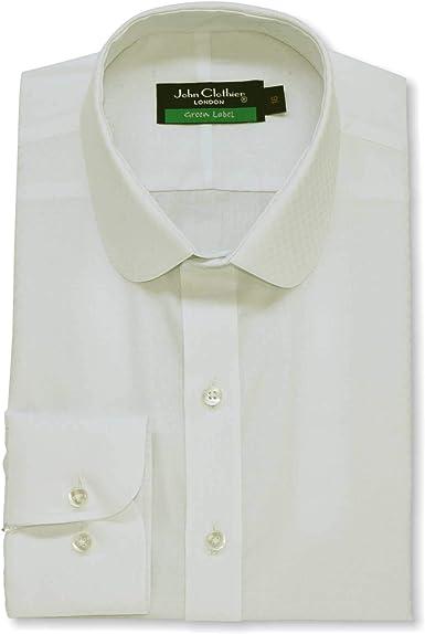 Camisa de algodón 100% para hombre, color crema con cuello de ...