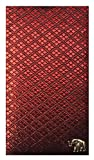 Red Fabric Waitstaff Organizer Guest Check Presenter, Check Book Holder for Restaurant, Checkbook Cover, Server Book for Waiters with Money Pocket (With Plastic Covers)