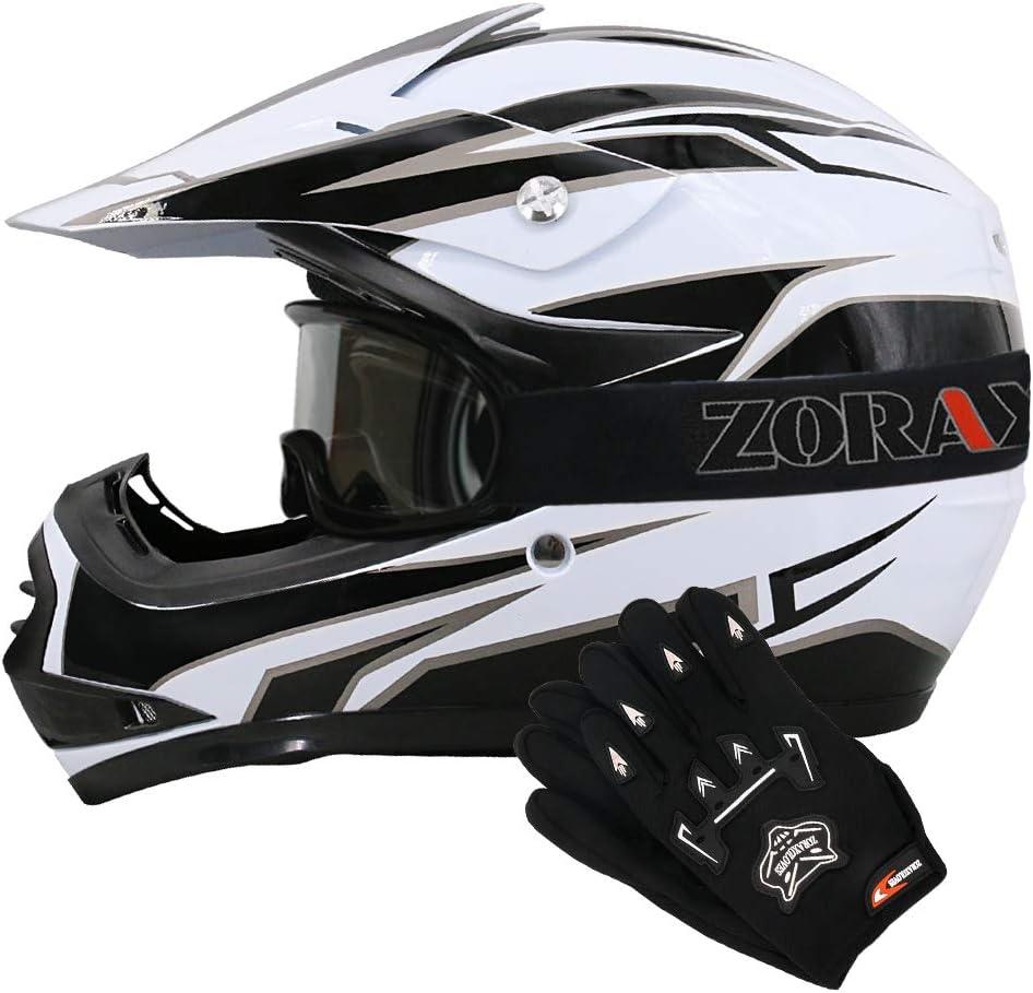 11-12Yrs 49-50cm Leopard LEO-X15 Matt Black Kids Motocross Helmet S /& Goggles 5cm Children Kids Motorbike Race Suit XL /& Gloves S