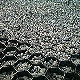 Estabilizador de grava EasyGravel® NEGRO 3XL, 32m2, geoceldas para jardín