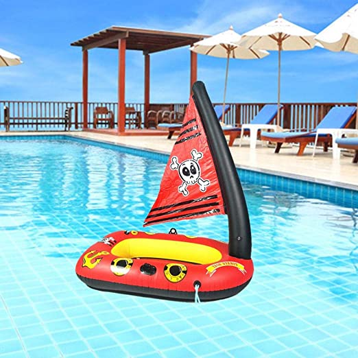 gaeruite Barco Pirata Inflable, Juguete Flotante Inflable ...