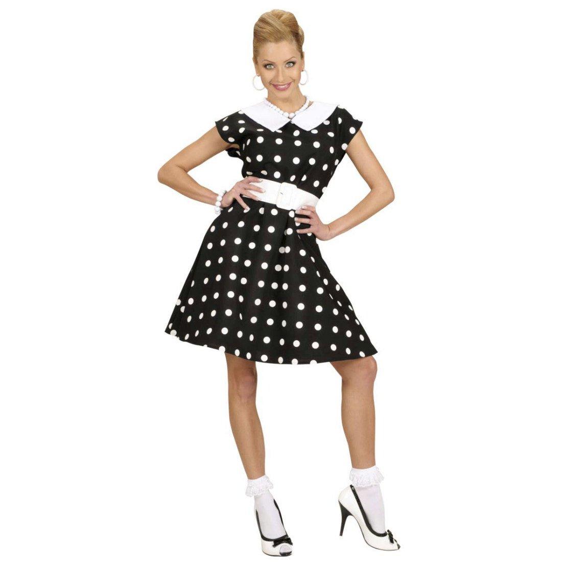 NET TOYS Robe années 50 Déguisement Rockabilly Noir et Blanc à Pois S 36 38  Costume Femme Rockabella Habits Mode 1950 vêtements de défilé pin-up  Mascarade ... 37d35d6f0915