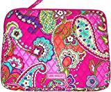 Vera Bradley Laptop Sleeve Pink Swirls Fits Up To 15' Laptops