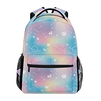 62679953d ZOEO School Backpacks Unicorn Rainbow Planet 3th 4th 5th Grade Travel  Daypack Bag Purse for Boys Girls