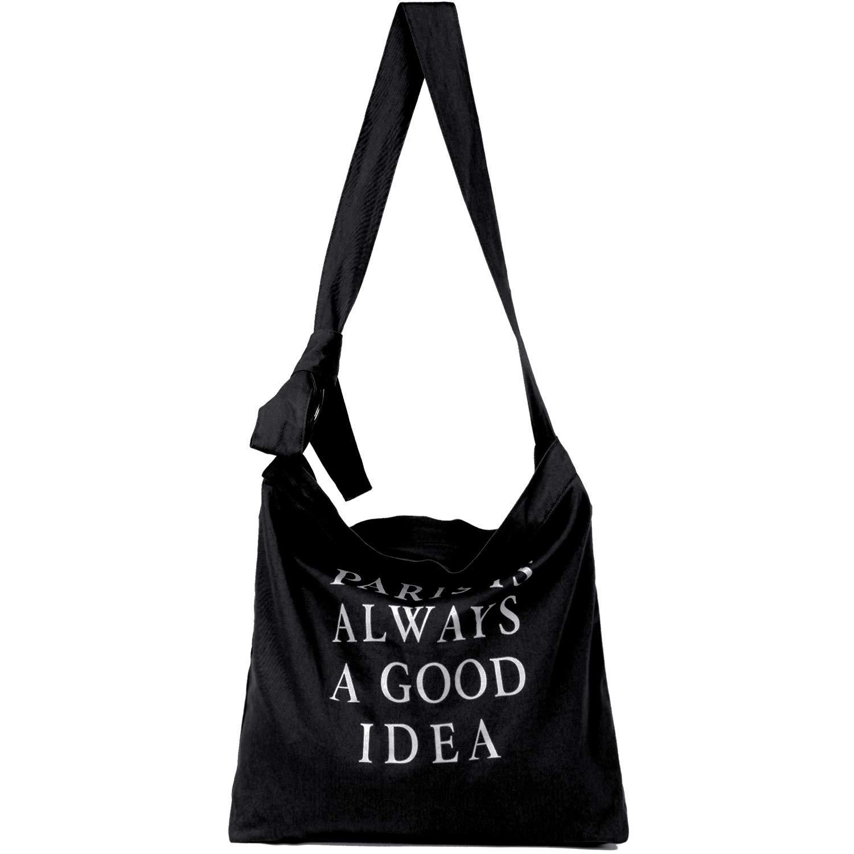 Canvas Crossbody Hobo Bag Shoulder Bag for Women and Girls Shopping School Gym Travel Grocery Heavy Duty