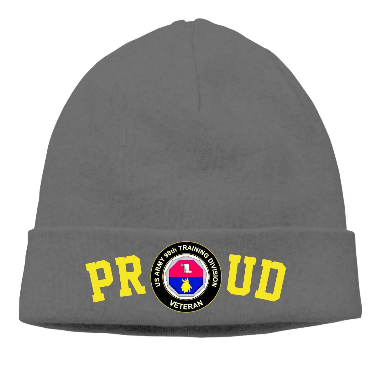 FORDSAN CP Proud US Army Veteran Training Division Mens Beanie Cap Skull Cap Winter Warm Knitting Hats.