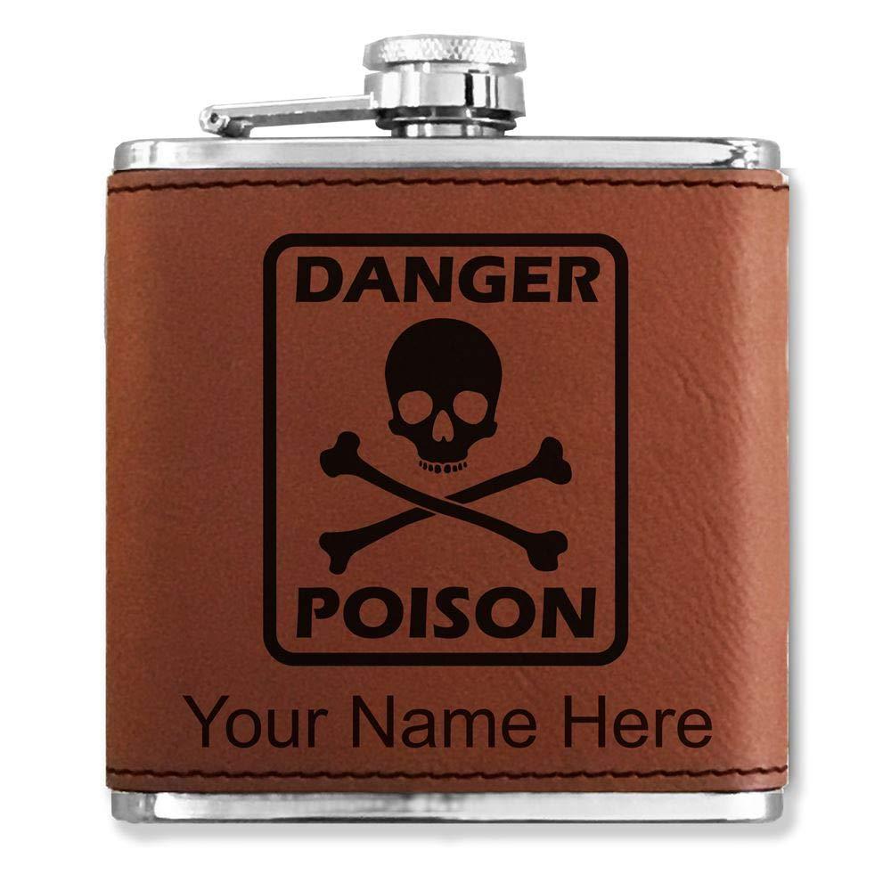 ホットセール フェイクレザーフラスコ – (ダークブラウン) Poisonシンボル – カスタマイズ彫刻Included – B01M0JIY30 (ダークブラウン) B01M0JIY30, 南木曽町:63bf1de3 --- mswebserv.com