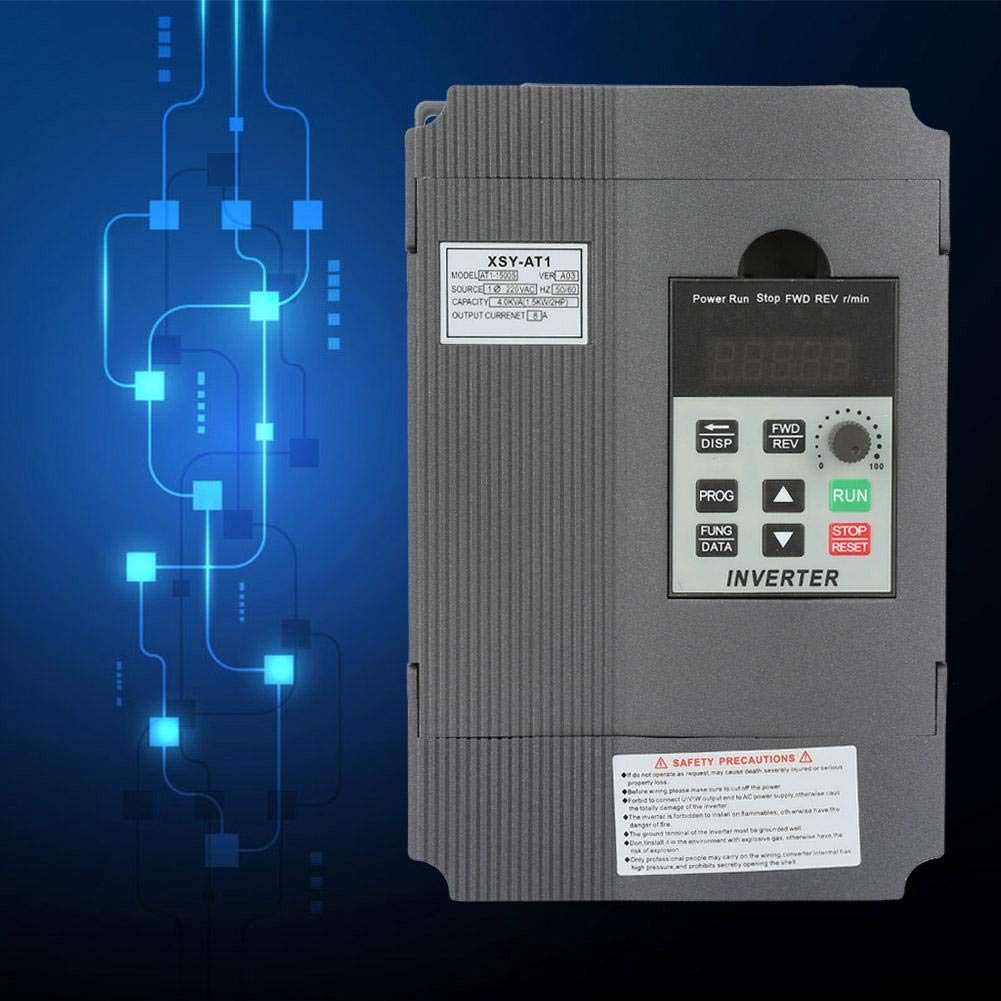220V Single Phase VFD Drive VFD Inverter Professional Variable Frequency Drive Speed Controller for 3-phase 1.5kW AC Motor Variable Frequency Drive