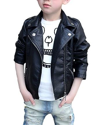 c9223d39ff8e7 Snone男の子 ボーイズ PU革 ジャケット レザージャケット キッズ ライダースジャケット 子供 PU革 コート キッズ