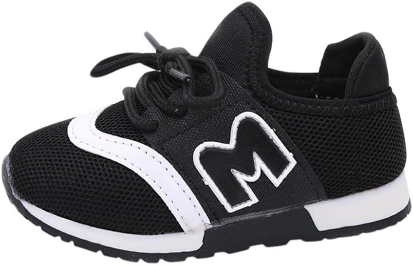 Zapatillas deportivas niño zapatos niño Zapatillas Zapato Niño Casual zapatos Gimnasia Niños Sport Running Zapatos Niños Niñas letra Mesh Zapatillas Deportivas morwind 25 Negro: Amazon.es: Bebé