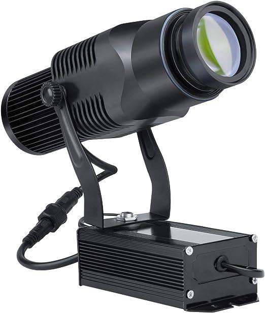 AHWZ Proyector GOBO con Logotipo LED De 40 W con Zoom Manual Luz ...