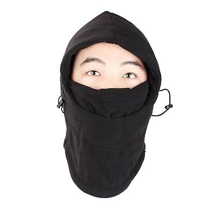 c66763001f7af Amazon.com  Balaclava Fleece Hood Windproof Ski Face Mask for Men   Women  Soft Warm Fleece Ear-Flap Winter Hat Hood for Outdoor Sports  Sports    Outdoors