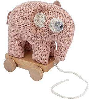 SEBRA grapefruit Spieluhr rosa Elefant Brahms Wiegenlied Guten Abend gute Nacht