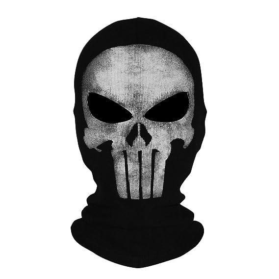innturt tela Ghost máscara pasamontañas de calavera con capucha: Amazon.es: Deportes y aire libre