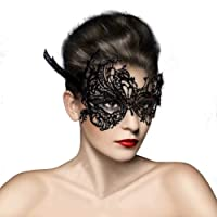 skyblue-uk Masque Loup Venitien en Dentelle Deguisement pour la Soiree Masque de Bal Mascarade Halloween Partie Vampire Balle