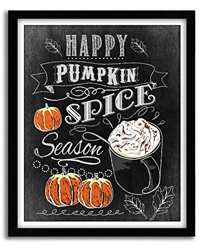 Pumpkin Spice Season Print, Thanksgiving Decor, Thanksgiving Art, Fall Decor, Pumpkin