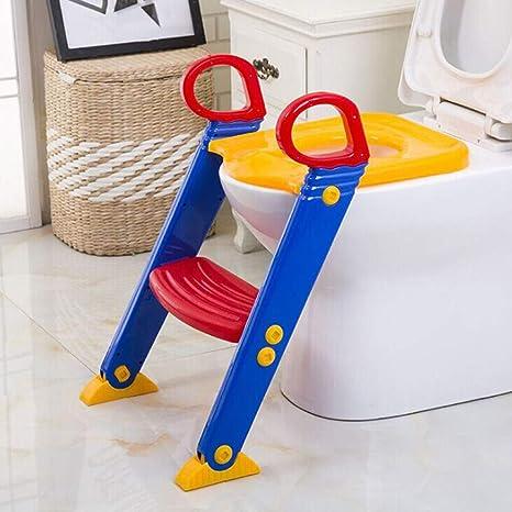 Amazon.com: Silla de inodoro para niños con escalera y ...