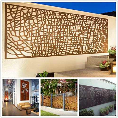 kayee® - Decoración, diseño de bambú, Biombo, decoración de pared exterior, biombos pared, privacidad, imágenes, vallas, Separador |600 mm × 1200, ...