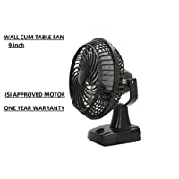 Favy Air 225mm Wall Cum Table Fan With Powerful High 3 Speed Motor Sw-01,Black