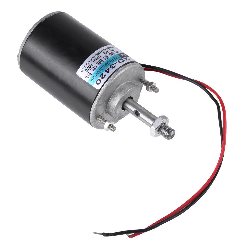 Mini 12V / 24V CW / CCW Motor Magnético Reversible Motor de Imán permanente Motor Reversible de Alta Velocidad Bajo Ruido para Generador de Bricolaje(DC 24V ...