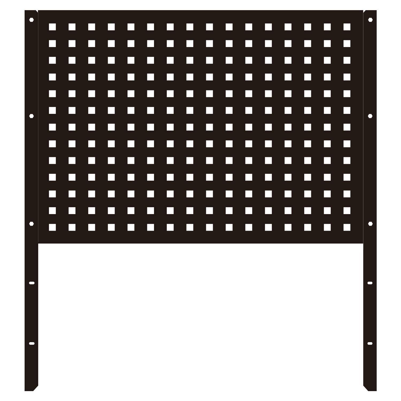 TANKSTORM Back Panel for Tool Cart Tool Chest (HGB1235-BK)