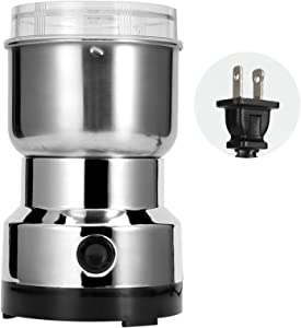 【Christmas Revels】Electric Grain Grinder, Mill Stainless Steel Powder Grinder Machine Spice Coffee Nut Grain Crusher Mill Blender Kitchen Tool for Dry Spice Grains Coffee Rice Corn Pepper(US Plug 110V