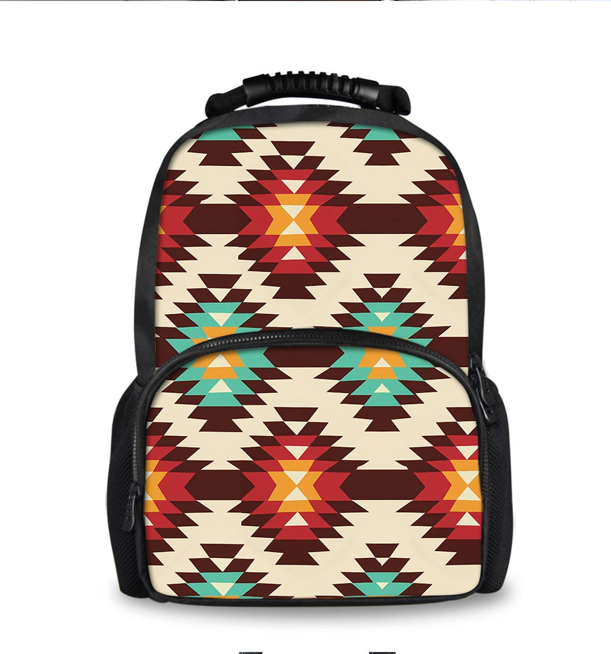 School Backpack for Boys Girls,Perfect Fit Kids Elementary School Teenage Junior Middle School Bookbag Student Stylish American Native Pattern Travel Laptop Book Bag by YongColer