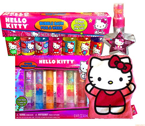 Hello Kitty Mini Kitchen Set: Hello Kitty Ultimate Holiday Gift Set Bubble Bath For A