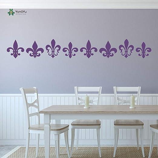 fancjj Tatuajes de Pared Home Art Vinyl Fleur De lis Decorativos ...