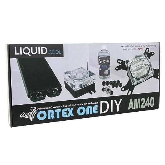Liquid Cool 240 mm Vortex One Advanced DIY Water Cooling Kit - Black   Amazon.co.uk  Computers   Accessories 346899b65