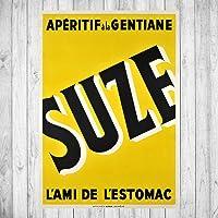 Déco reproduction d'affiche vintage - Suze - sur papier photo 250gr/m2