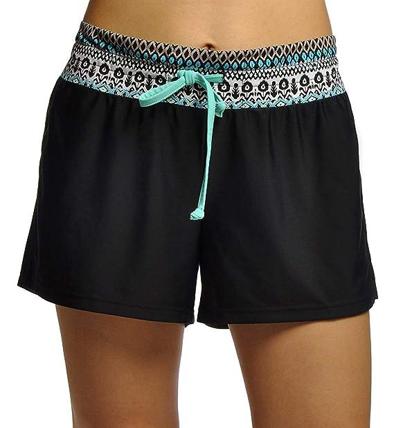 329f52ab48 DUSISHIDAN Printed Board Shorts for Women with Back Pockets at ...