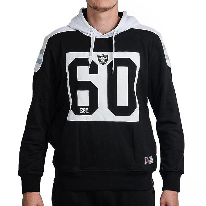 Majestic Sudadera Capucha NFL Pringer Panelled Block Oakland Raiders Negro Talla: XXL (XX-
