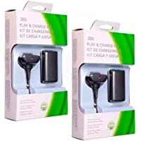 Kit 2 Baterias Carregador Controle Xbox 360
