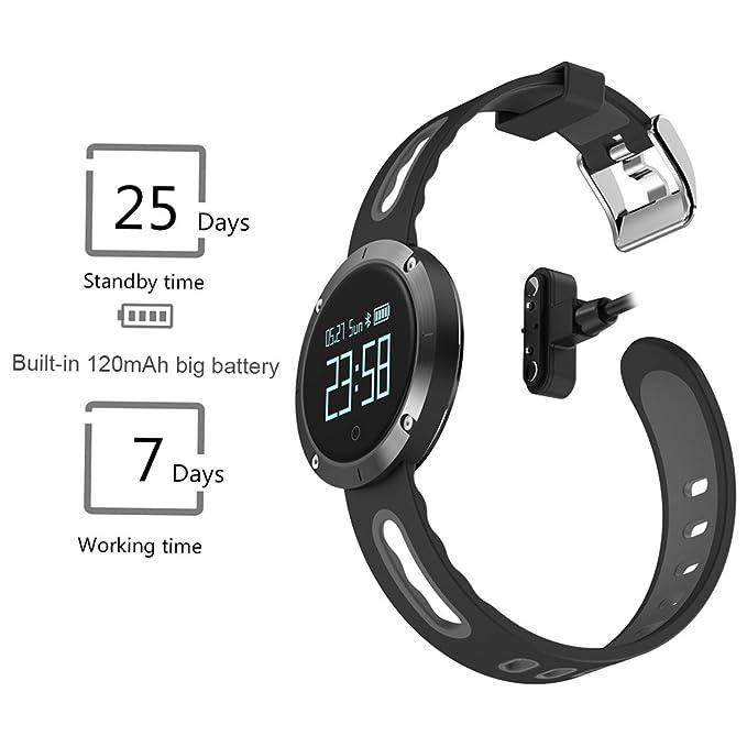 Hombres Mujeres Fitness reloj inteligente multifunción presión arterial Monitor corazón tasa pulsera: Amazon.es: Relojes