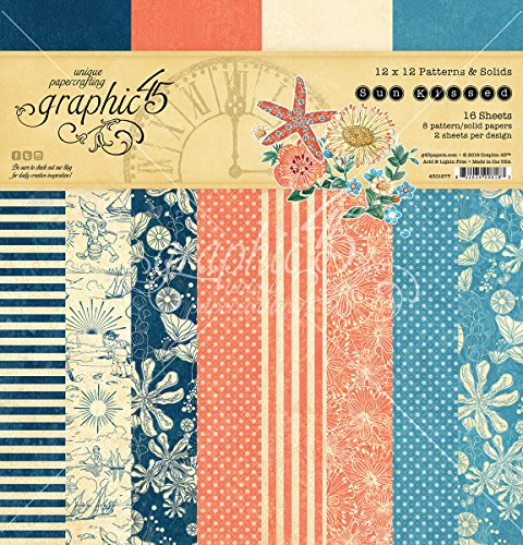 - Graphic 45 Sun Kissed 12x12 Patterns and Solids Pad