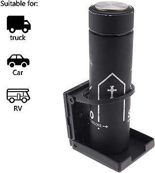 2pcs Porte-gobelet de Bateau Voiture Pliable avec Vis 3 Pouces Diam/ètre de Trou ABS Marine Camion Caravane